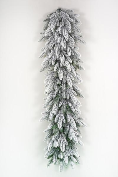 Гирлянда хвойная литая заснеженная Романовская 150х40 см (ГРМЗ 40) купить с доставкой