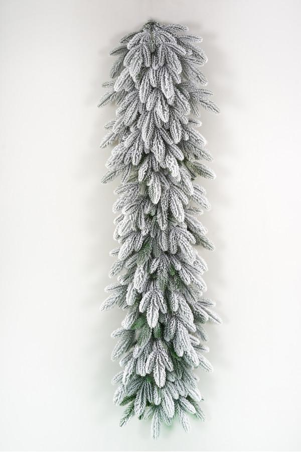 Гирлянда хвойная литая заснеженная Романовская 150х40 см