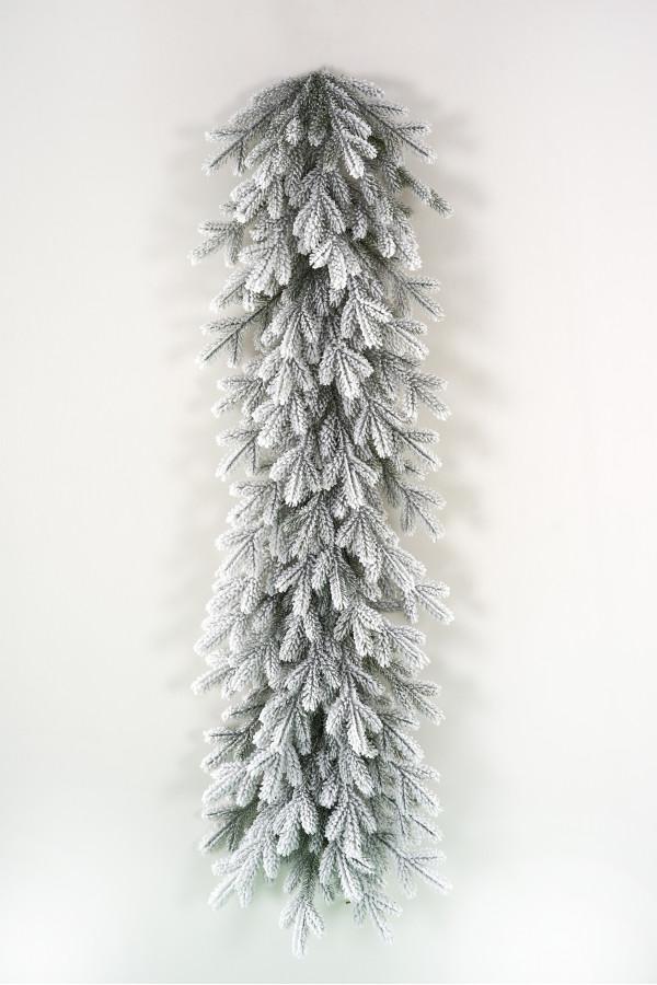 Гирлянда хвойная литая заснеженная Версальская 150х40 см