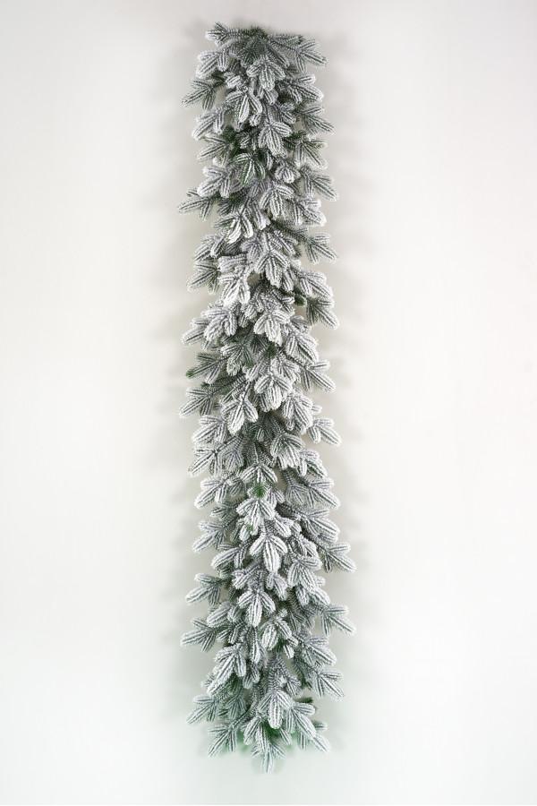 Гирлянда хвойная литая заснеженная Византийская 150х40 см