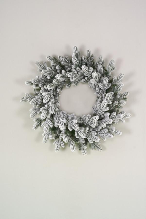 Венок рождественский литой заснеженный Византийский 55 см