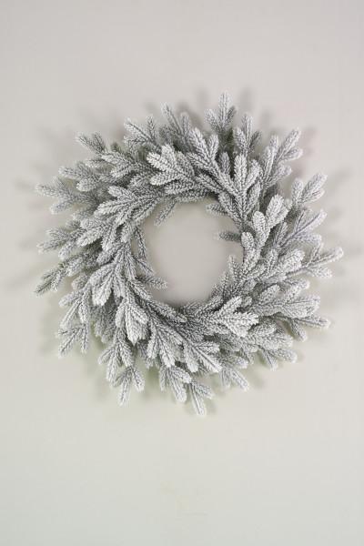 Венок рождественский литой заснеженный Версальский 70 см (ВВРЗ 70) купить с доставкой